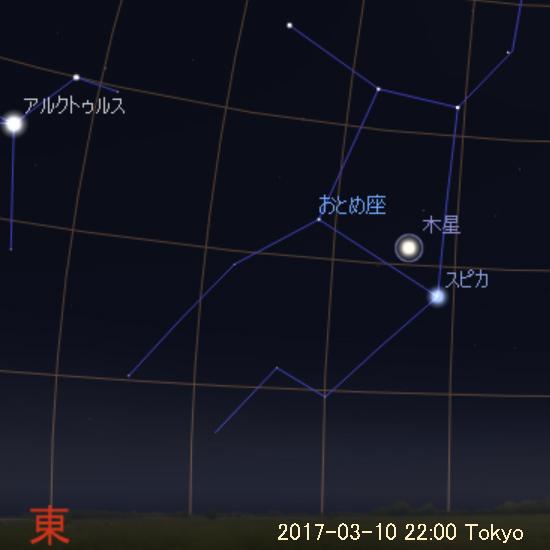 2017年3月10日 22時の木星