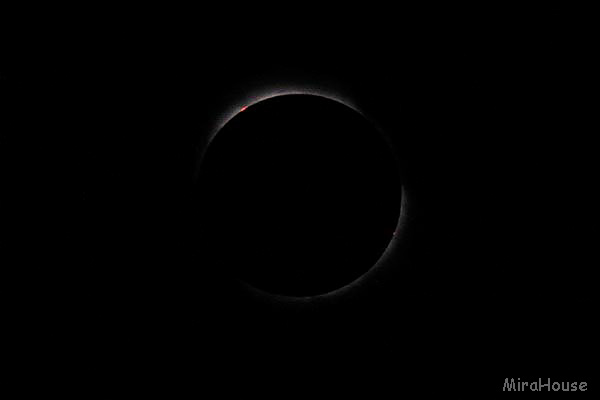 皆既日食 1994年11月03日 ペルー モケグア市郊外にて