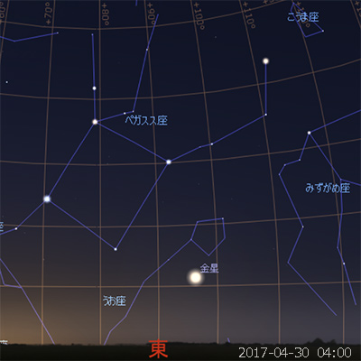 最大光度の日の金星 (2017-04-30)