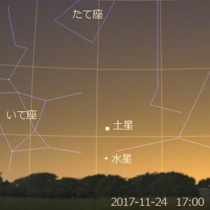 水星の東方最大離角 (2017-11-24)