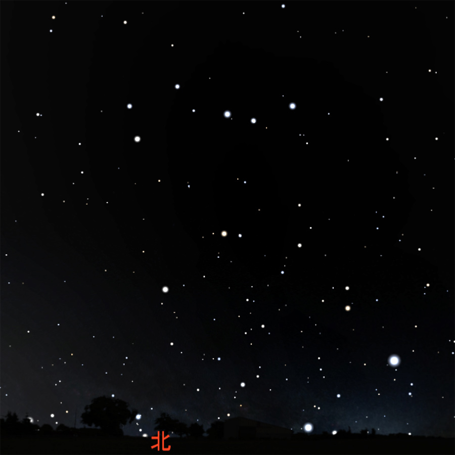 北斗七星と北極星の星図 (2)