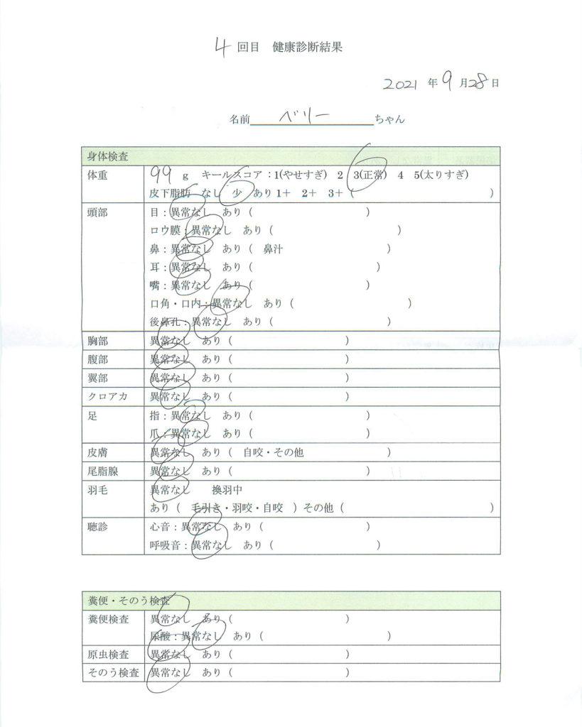 健康診断書(2021-09-28)