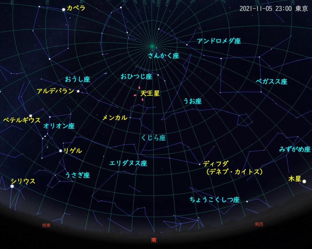 2021年11月5日 23時 東京の星空